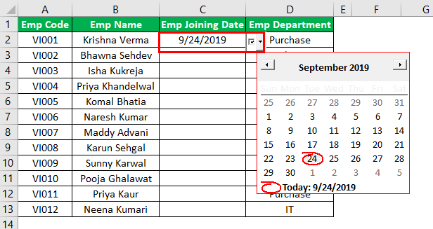 Excel Date Picker Example 1.10