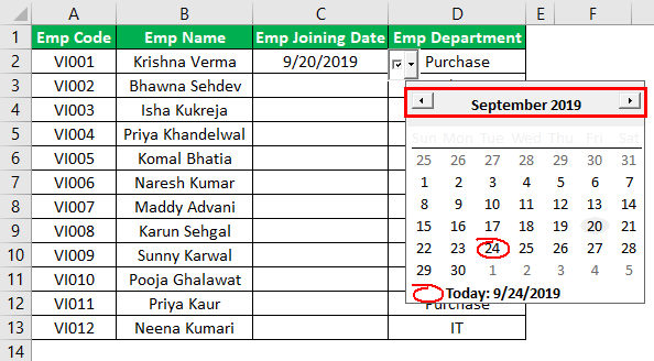 Excel Date Picker Example 1.12