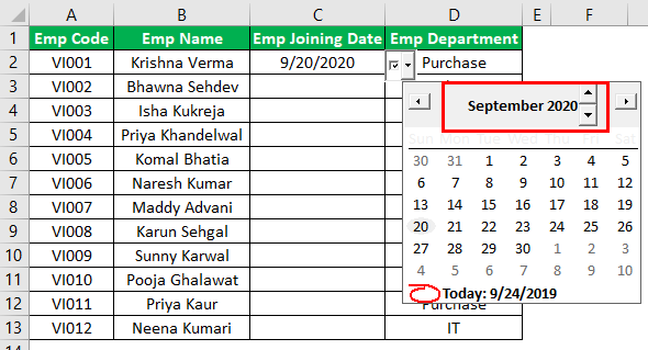 Excel Date Picker Example 1.14
