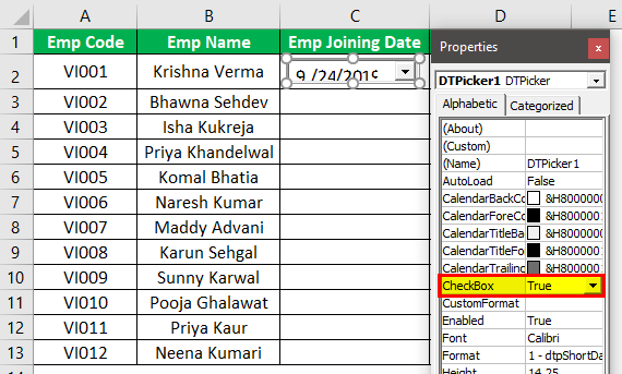 Excel Date Picker Example 1.8.0