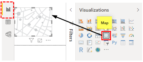 Map in Power BI (click on Map)