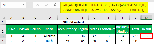 Marksheet in Excel Example 1.28