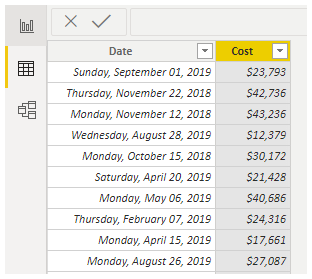 Power BI Calendar (Data)