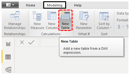Power BI Calendar (New Table)