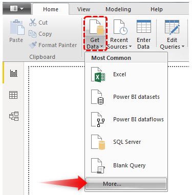 Power BI Connections - More Option