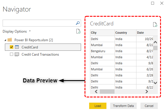 Power BI Reports (data preview)