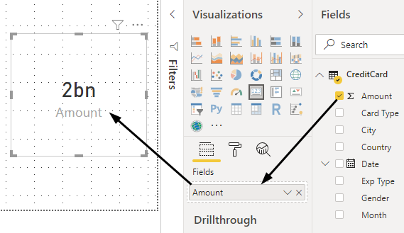 Power BI Reports (fields)