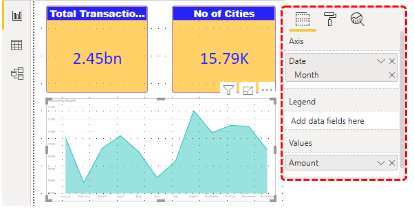 Power BI Reports (monthly spend of amount visual)