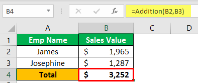 Custom Excel Function Example 1-7