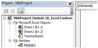 Custom Excel Function Example 1