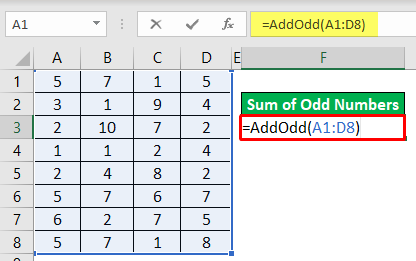Add Odd Numbers Example 2-5