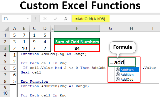 Custom Excel Functions