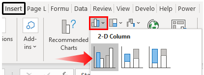 Excel Comparison Chart - Example 1-1