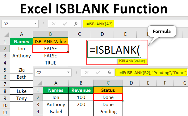 Excel-ISBLANK-Function