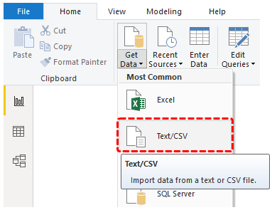 Get Started with Power Bi (Text-CSV)