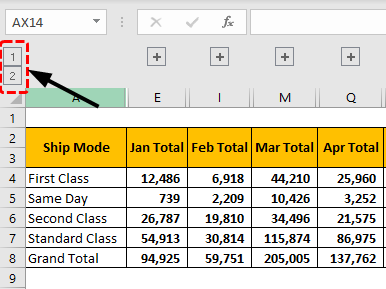 view grouped data Example 1-13