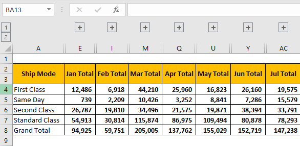 Group Data Example 1-8
