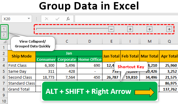 Group Data in Excel