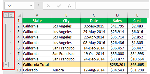 How to Group Rows in Excel Example 1.6