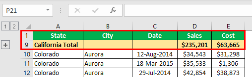 How to Group Rows in Excel Example 1.7