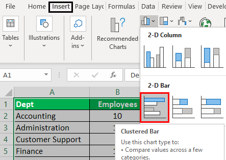 People Graph in excel Example 2.1