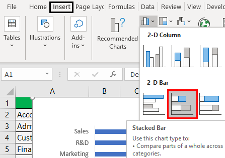 Infographics in Excel Example 3.2