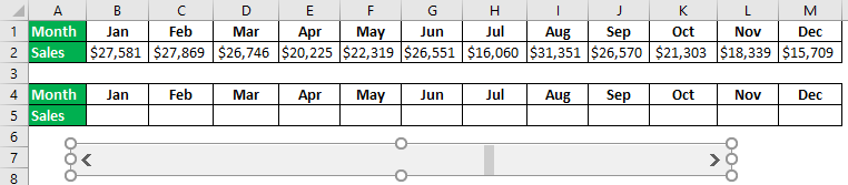 Interactive Chart in Excel Example 1.4.0