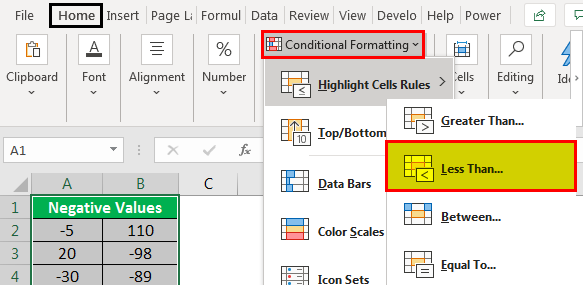 Conditional Formatting Option