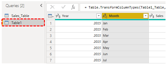 Choose table query