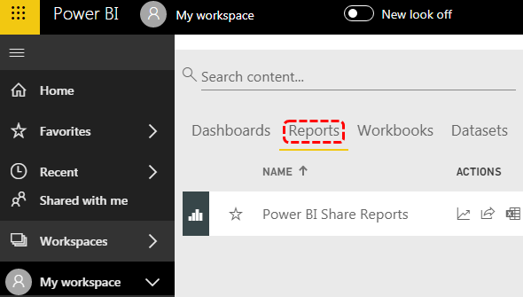 Power BI Published Report