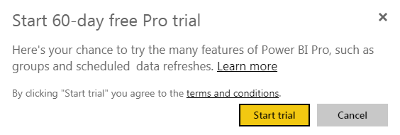 Power BI Workspace - Free Trial