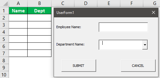 created userform Example 1-29