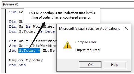 VBA Object Required Example 1-1