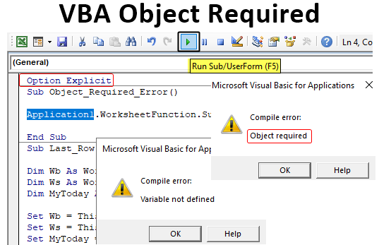 VBA Object Required
