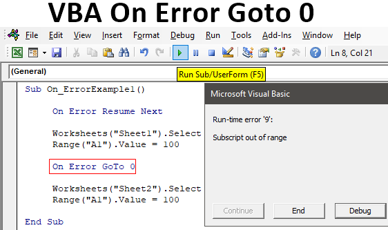 VBA On Error Goto 0