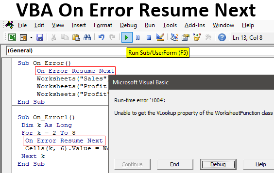 VBA On Error Resume Next | How to Ignore Errors? (with Examples)