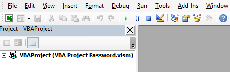 VBA Project Password Example 1-6