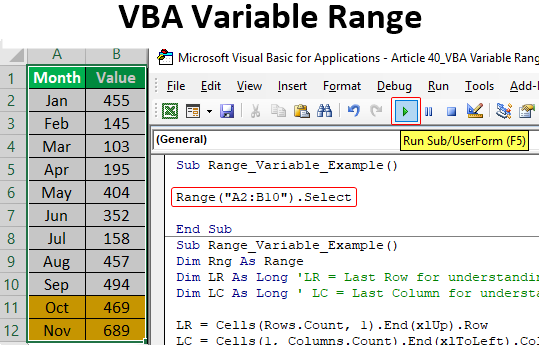 VBA Variable Range