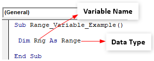 VBA Variable Range - Example 1-5