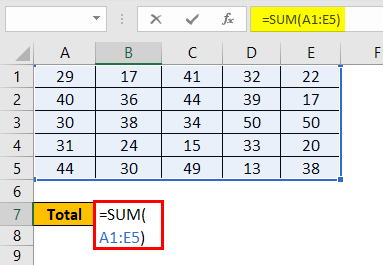 Write Formula in Excel Example 3.2