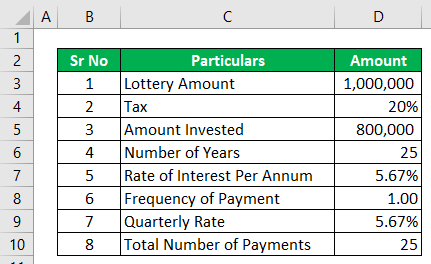 Annuity Calculator - Example 1