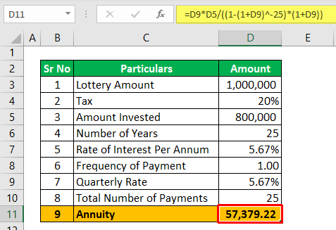 Annuity Calculator - Example 2-1