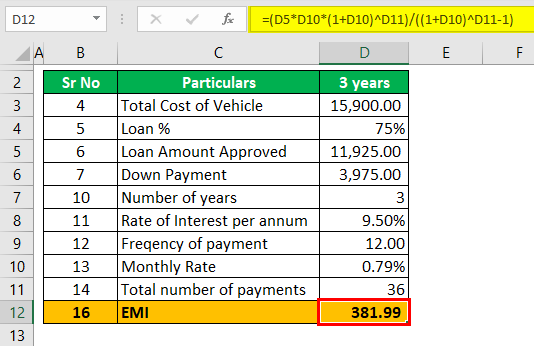 Auto Loan Calculator Example 2 (EMI for 3 years).png