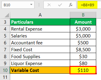 Variable Cost Example 1-4