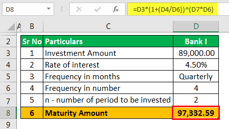CD Interest Calculator - Example 2.3