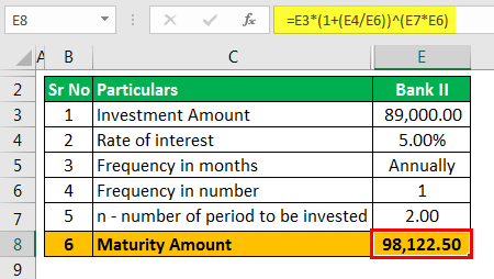 CD Interest Calculator - Example 2.6