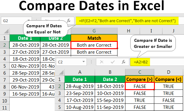 Compare-Dates-in-Excel