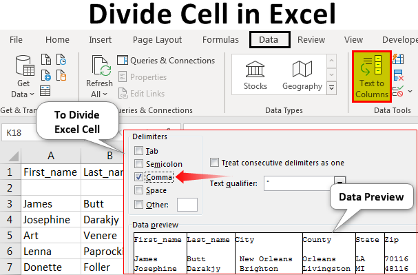 Divide-Cell-in-Excel