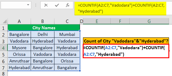 Excel COUNTIF Multiple Condition Example 2.2