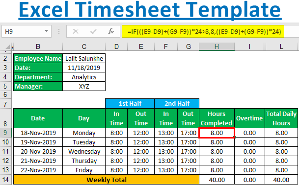 Excel-Timesheet-Template